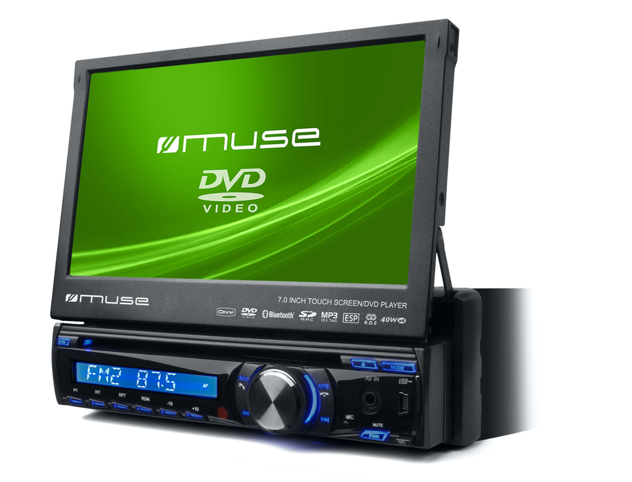 muse pr sentiert neue car entertainer dvd player divx. Black Bedroom Furniture Sets. Home Design Ideas