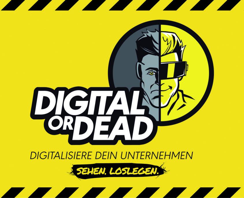 """Das Logo der Aufklärungskampagne """"Digital OR Dead"""""""
