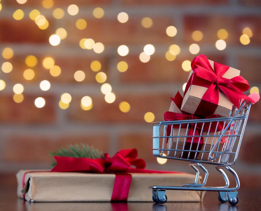 Weihnachtseinkäufe Logistik